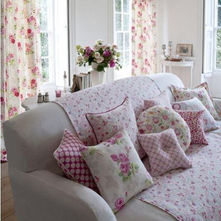 Vintage Fabric Nostalgic Prints Curtain Cushion Upholstery Fabric